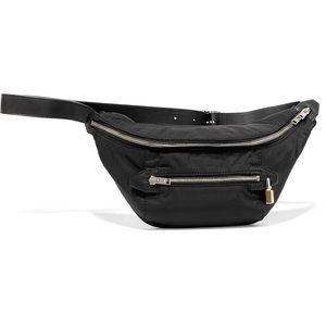 NWT Leather Trimmed Shell Belt Bag